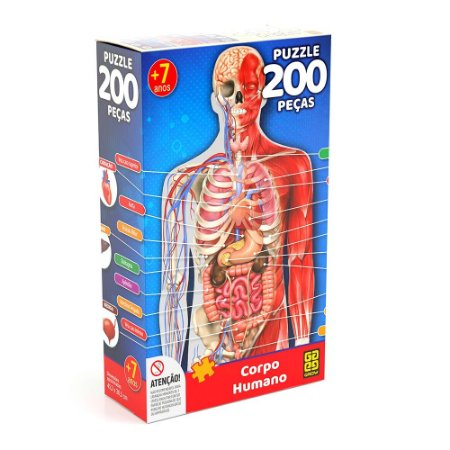 QUEBRA CABEÇA CORPO HUMANO 200 PEÇAS - GROW