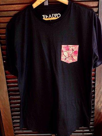 Camisa Bolso Borboletas - Preta
