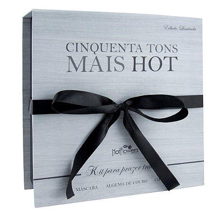 Kit Cinquenta Tons Mais Hot Prazer Intenso Hot Flowers