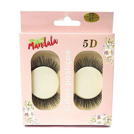 Cílios Postiços 5D com 2 pares Mandala Modelo 07 DF2275