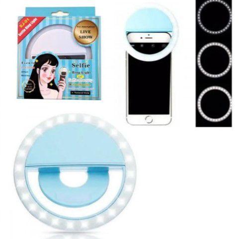 Selfie Ring Light Para Celular 3 Níveis de Brilho