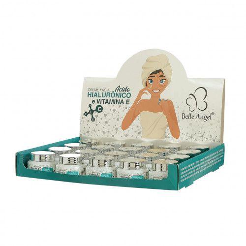 Creme Facial Vitamina E e Ácido Hialurônico Belle Angel Atacado Box 19 Unidades