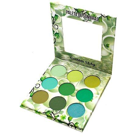 Paleta de Sombras Nuances Verde Ludurana B00008