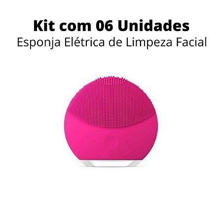 Kit 06 Unidades Esponja Elétrica de Limpeza Facial