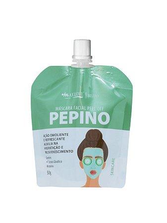 Máscara Facial Peel Off Pepino Sachê 50g Max Love