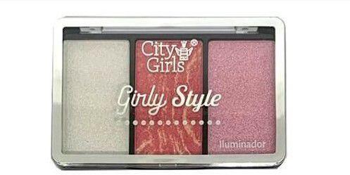 Paleta de Iluminador Girly Style City Girls CG223 Cor A