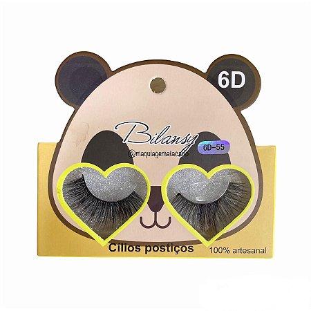 Cílios Postiços 6D Bilansy Modelo 55 CNL270