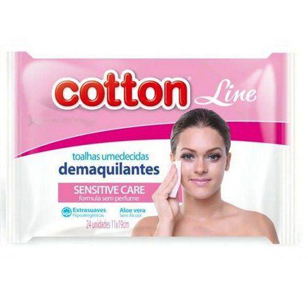 Lenço Demaquilante Umedecido Sensitive Care Cotton Line