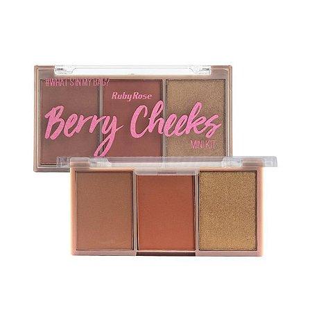 Kit Blush Ruby Rose Berry Cheeks HB6111 Cor 04