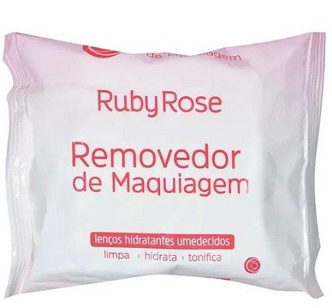 Removedor de Maquiagem - Lenços Hidratantes Umedecidos Ruby Rose HB200