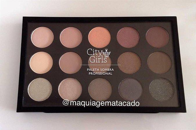 Paleta de Sombra Profissional 15 Cores City Girls Cor A