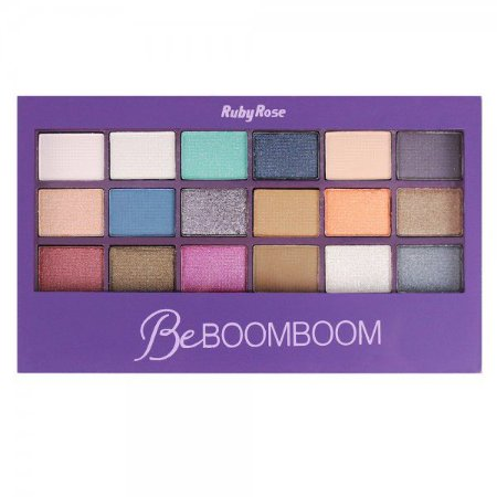 Paleta de Sombra Ruby Rose 18 cores Be BoomBoom HB9924