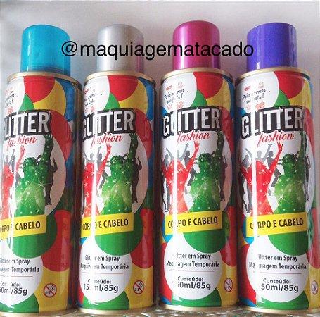 Glitter em Spray Para Corpo e Cabelo Maquiagem Temporária