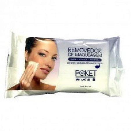 Removedor de Maquiagem - Lenços Hidratantes Umedecidos Poket Ruby Rose  HB199 Roxo