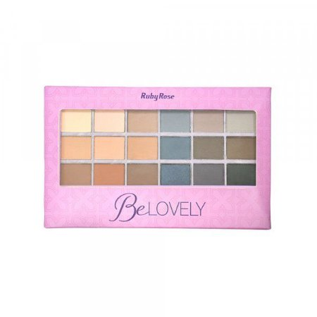 Paleta de Sombra Ruby Rose 18 cores Be Lovely HB9932