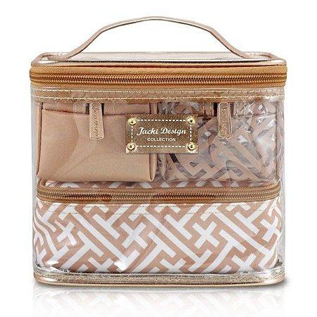 Kit de Necessaire c/ 4 peças - Diamantes Jacki Design ABC17381 Dourada