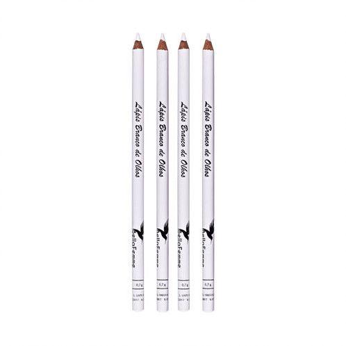 Lápis para Olho Branco com Apontador Bella Femme