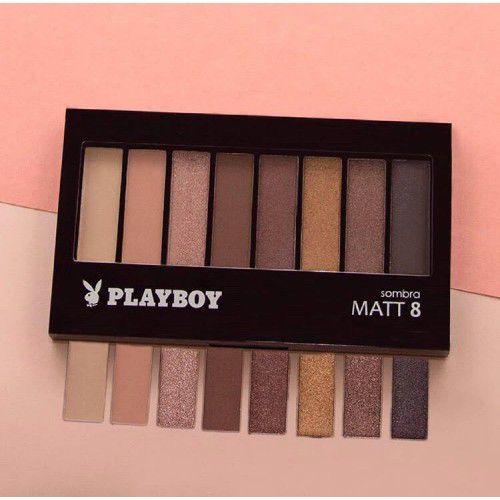 Paleta de Sombra 08 Cores Matte Playboy HB93092PB