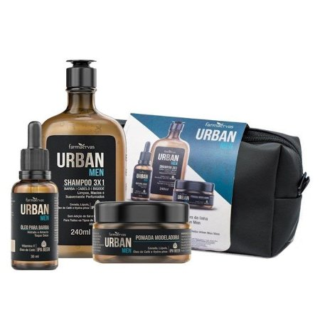 Kit Urban Men Com Necessaire Farmaervas