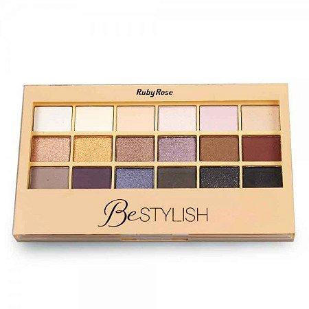 Paleta de Sombra Ruby Rose 18 cores Be Stylish HB9918