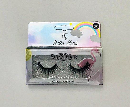 Cílios Postiços Mink 3D Hello Mini  Modelo 004 CL134-10