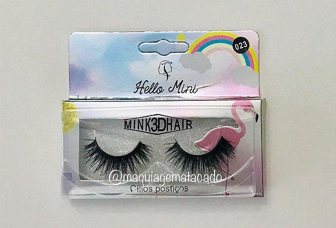 Cílios Postiços Mink 3D Hello Mini  Modelo 023 CL134-5