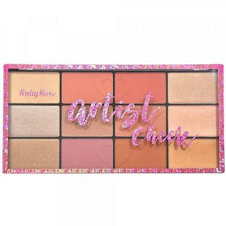 Paleta de Blush e Iluminador Artist Cheek Ruby Rose HB7219