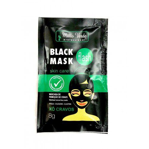 Máscara Facial Preta Black Mask Flash Xô Cravos Matto Verde