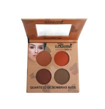 Quarteto de Sombras Nude Ludurana Cor 04 M00032