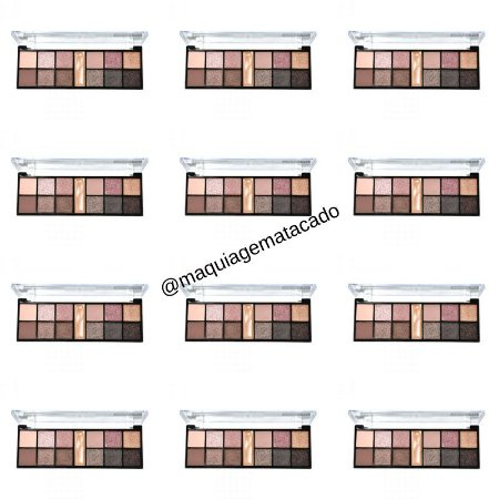 12 Unidades - Paleta de Sombra Rose Nude Ruby Rose HB9945