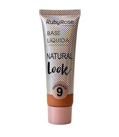 Base Líquida Natural Look Ruby Rose Chocolate 9 - HB8051