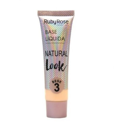 Base Líquida Natural Look Ruby Rose Bege 3 - HB8051