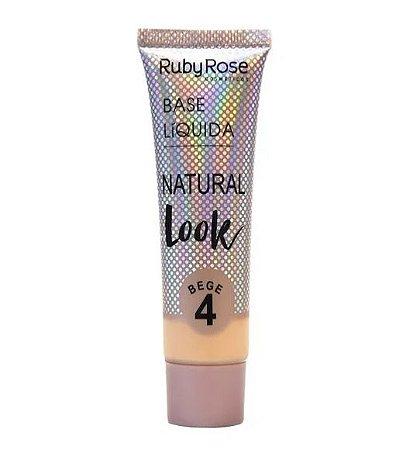 Base Líquida Natural Look Ruby Rose Bege 4 - HB8051
