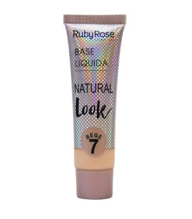 Base Líquida Natural Look Ruby Rose Bege 7 - HB8051