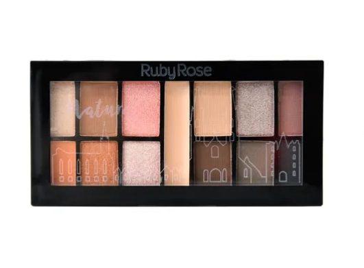 Paleta Kit de Sombras 12 Cores Natural Ruby Rose HB9985-4