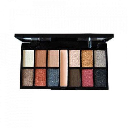 Paleta Kit de Sombras 12 Cores Sublime Ruby Rose HB9985-8