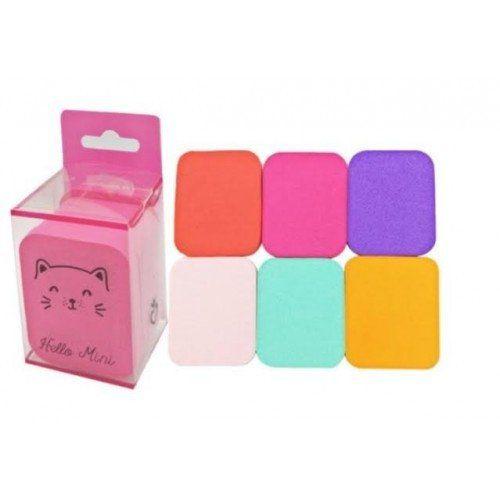 Kit de 06 Esponjas Para Maquiagem Hello Mini PS10
