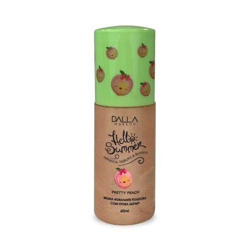 Bruma Hidratante Fixadora Hello Summer Dalla Makeup Pretty Peach DL0811