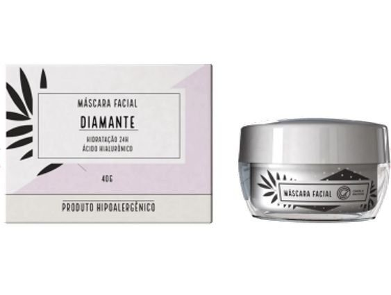 Máscara Facial Diamante com Ácido Hialurônico Chata de Galocha TB Make