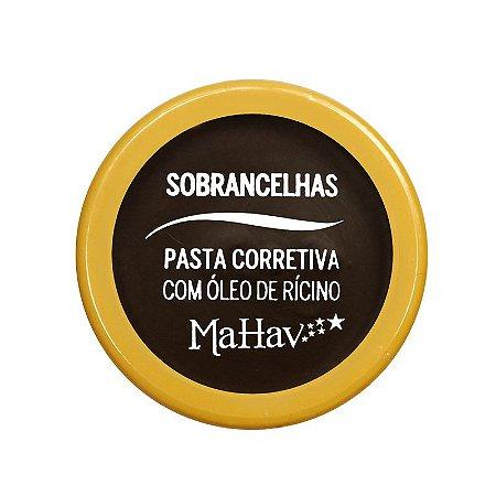Pasta Corretiva Para Sobrancelha Com Óleo de Rícino Mahav Cor 02