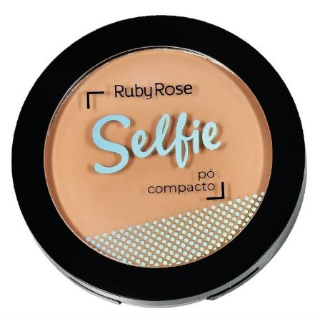 Pó Compacto Selfie Ruby Rose Cor 02 Bege Claro