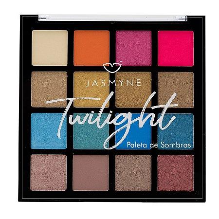 Paleta de Sombras Jasmyne Twilight 16 Cores JS1002