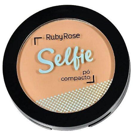 Pó Compacto Selfie Ruby Rose Cor 04 Bege Natural