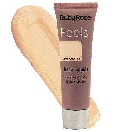 Base Líquida Feels Ruby Rose Amêndoa 30