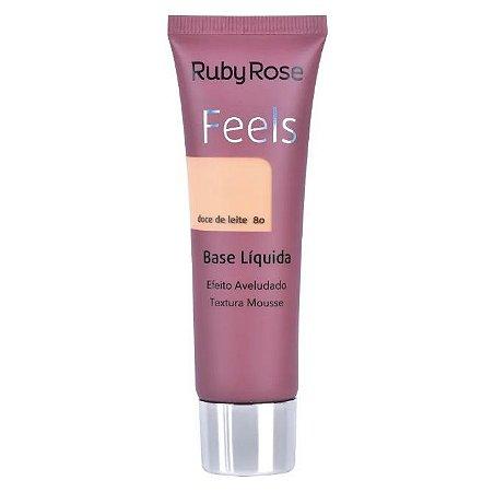 Base Líquida Feels Ruby Rose Doce de Leite 80