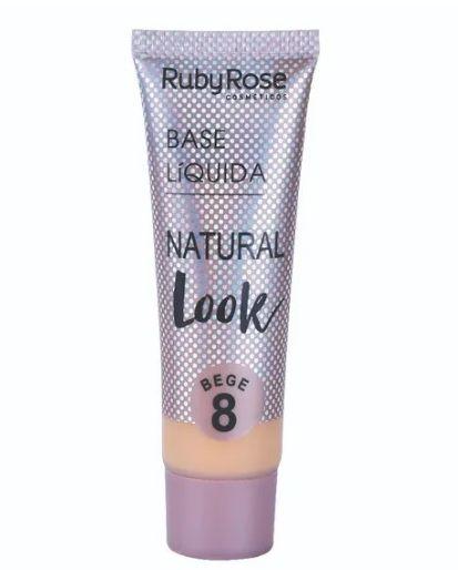 Base Líquida Natural Look Ruby Rose Bege 8 - HB8051