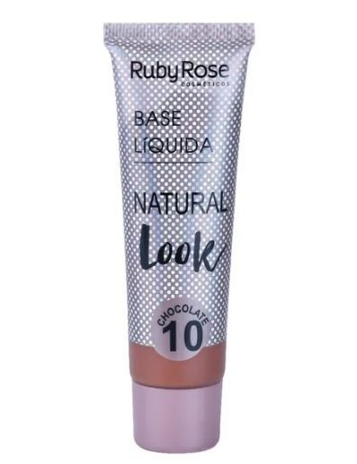 Base Líquida Natural Look Ruby Rose Chocolate 10 - HB8051