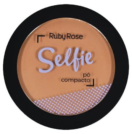 Pó Compacto Selfie Ruby Rose Cor 21 Chocolate Médio