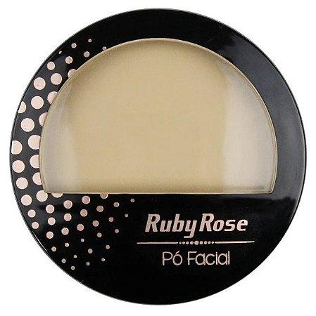 Pó Facial com Espelho Ruby Rose  HB7212 Cor 03