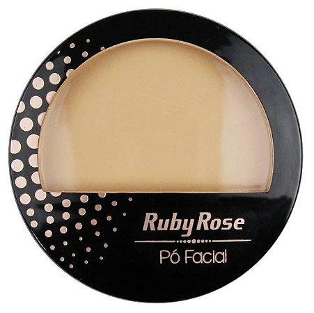 Pó Facial com Espelho Ruby Rose  HB7212 Cor 05